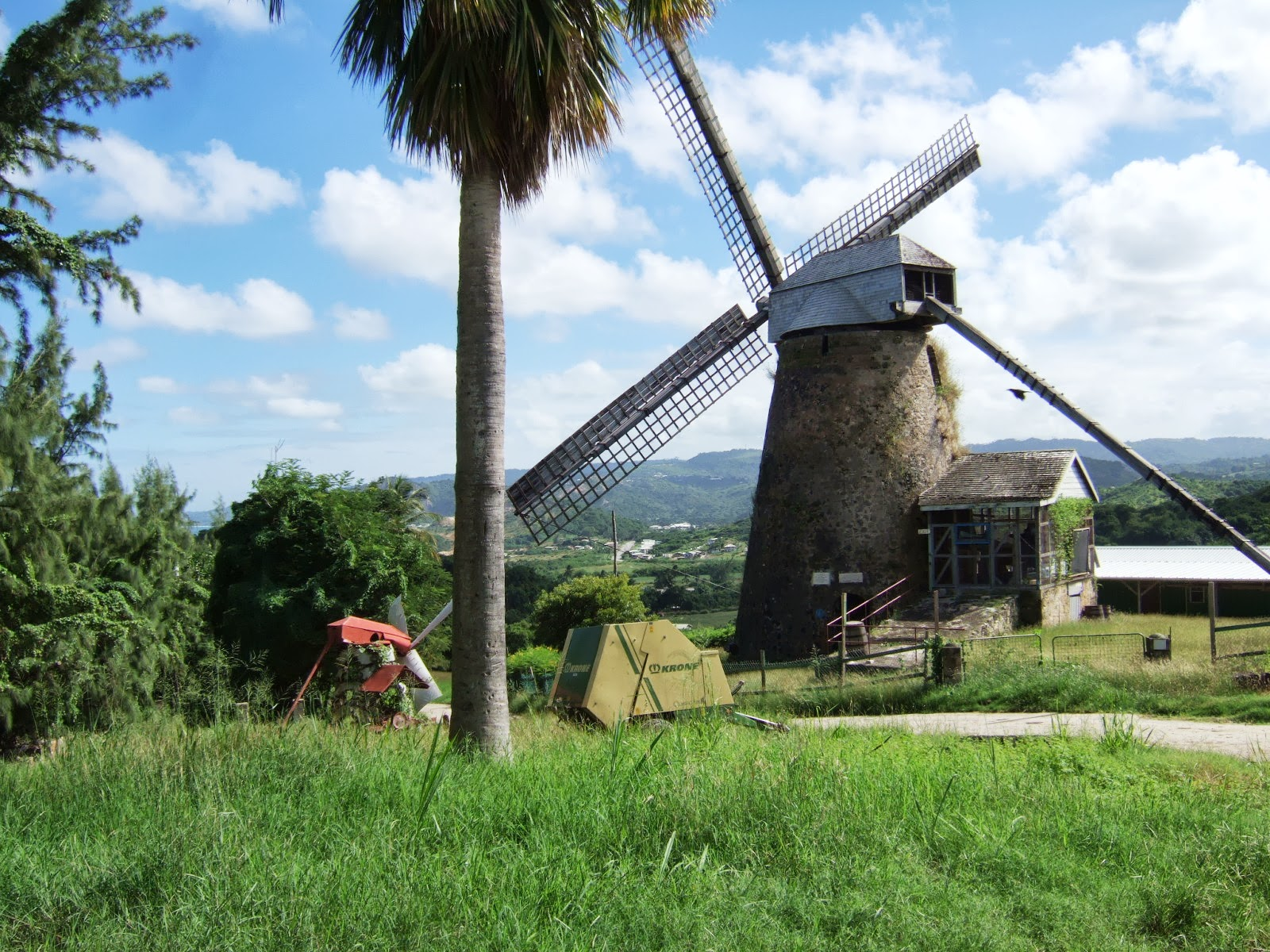 A windmill in one of the villages we passed through