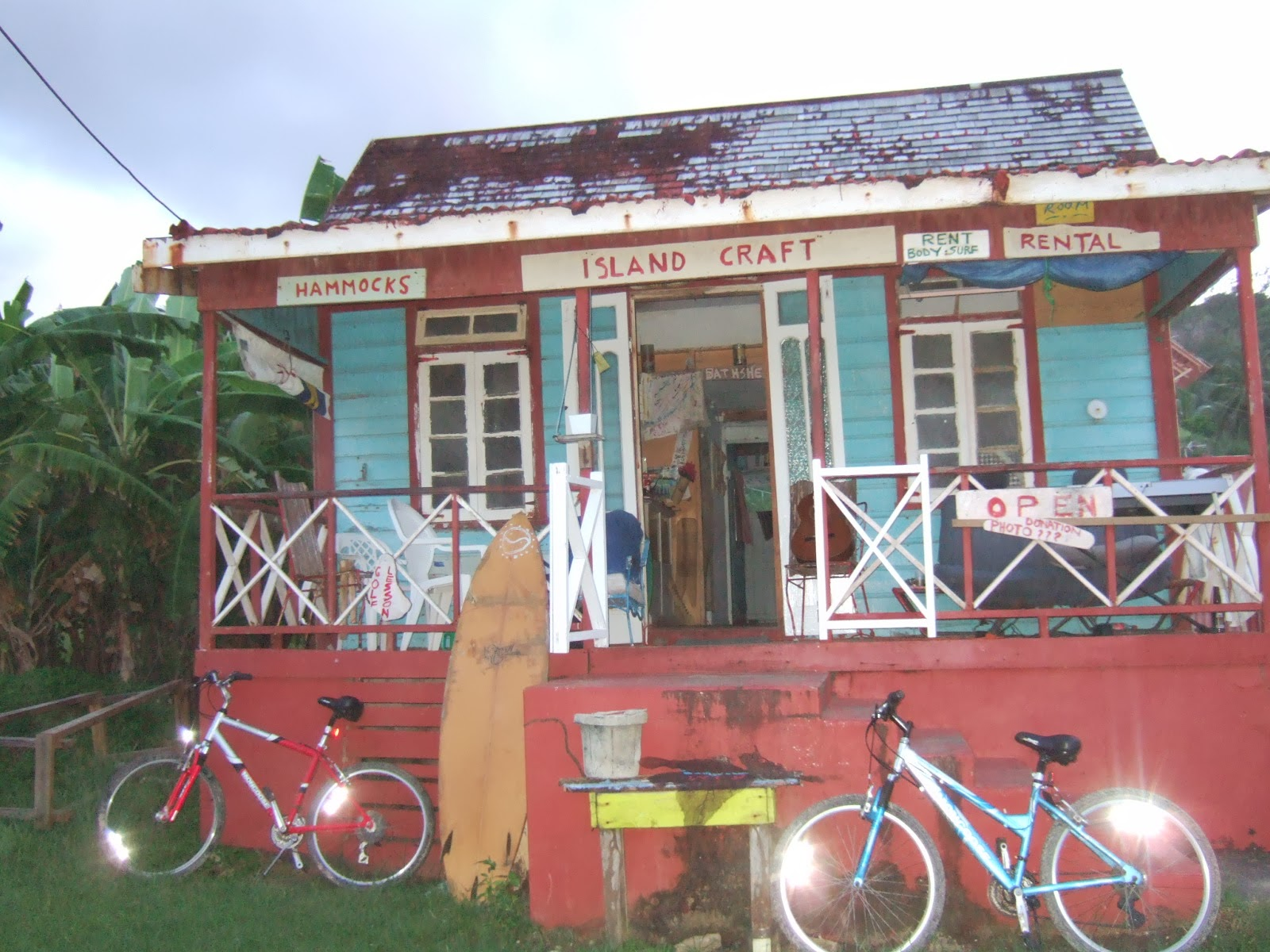 Old surf shack in Barbados