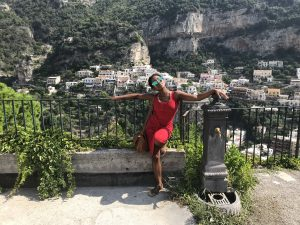 Baring the weight of Positano homes on my shoulders