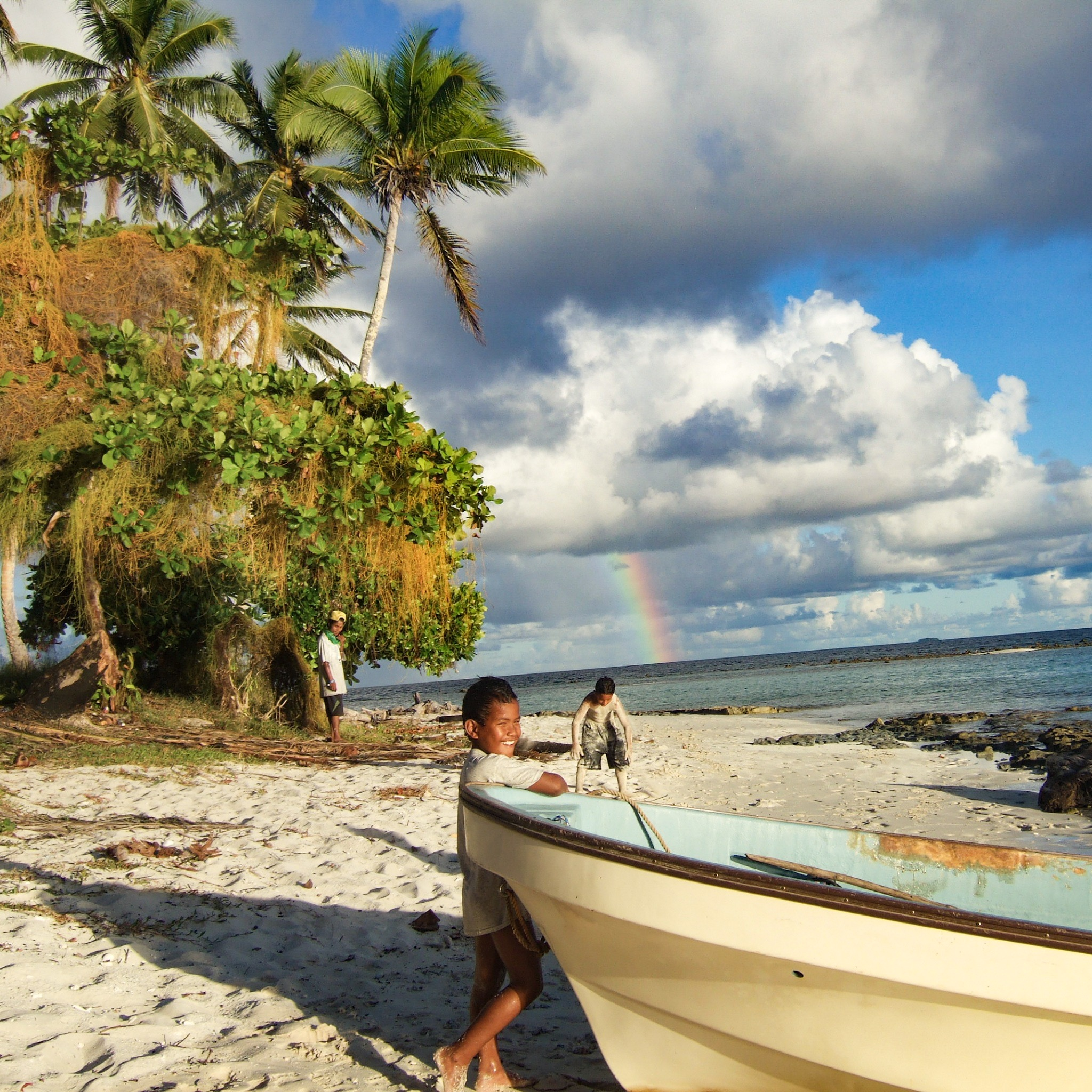 Rainbow view in Chuuk, Micronesia