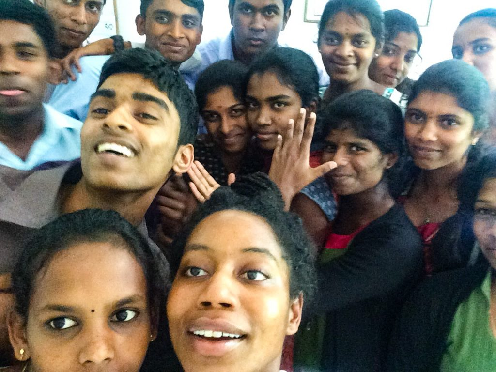 My students in Tea Leaf Vision, in Sri Lanka