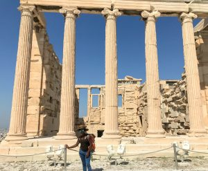 Me at the Acropolis in Athens.